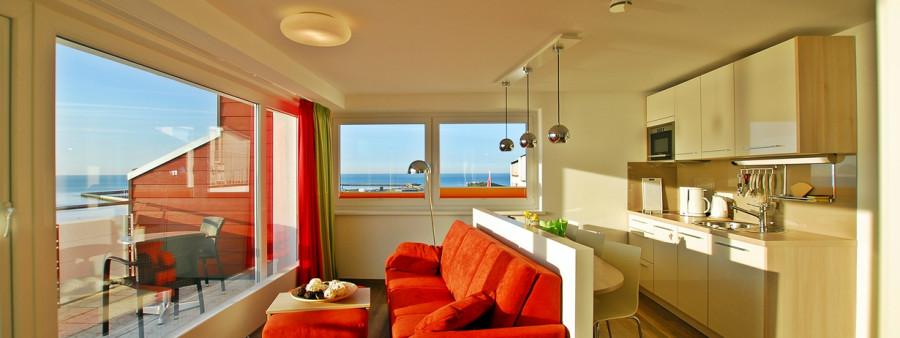 Blick in das Appartement 4